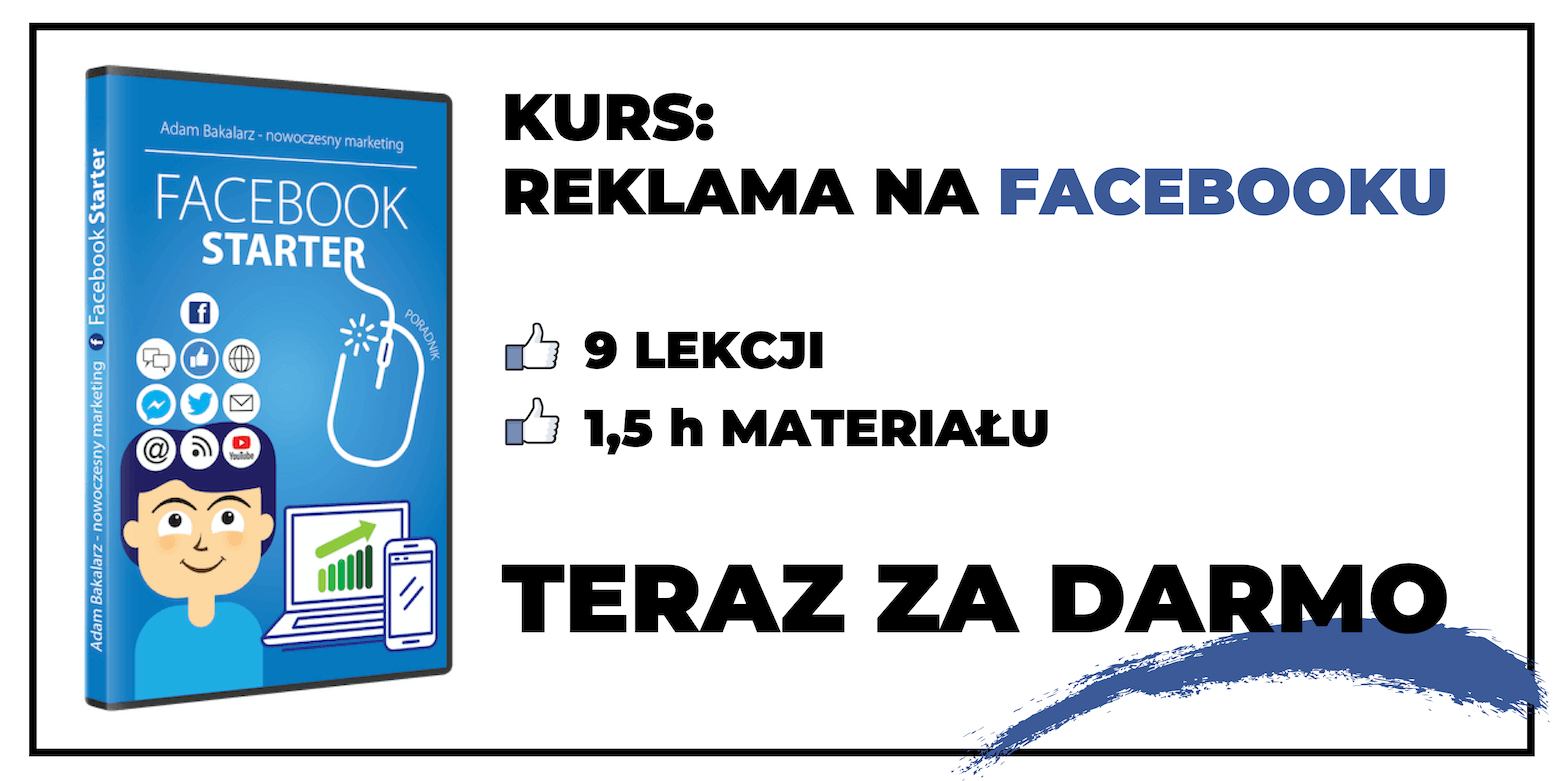 Fanpage na fb - kurs Facebook Starter za darmo