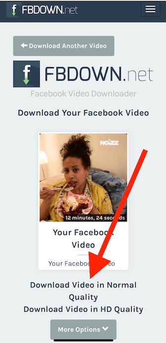 Pobieranie filmu z fb z telefonu