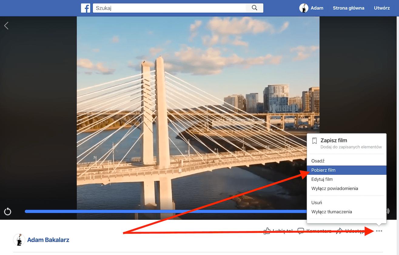 Jak pobrać film z fb