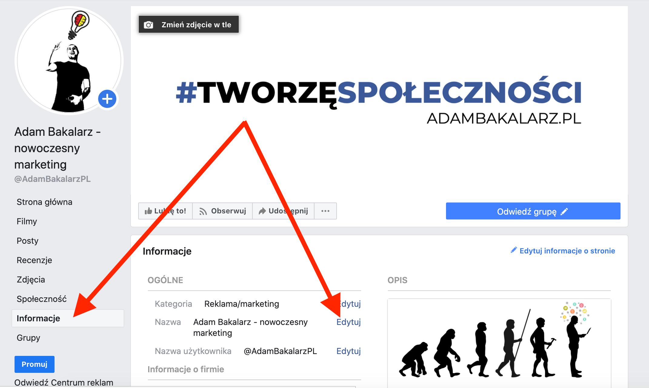 Jak zmienić nazwę strony na Facebooku