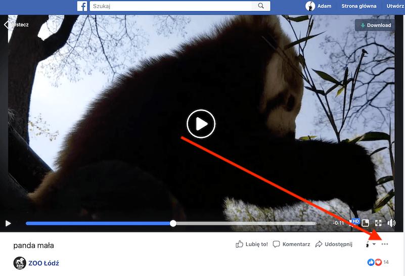 Osadzanie filmu z fb na własnej stronie