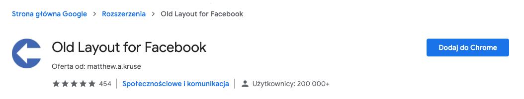 Stary Facebook - jak przywrócić